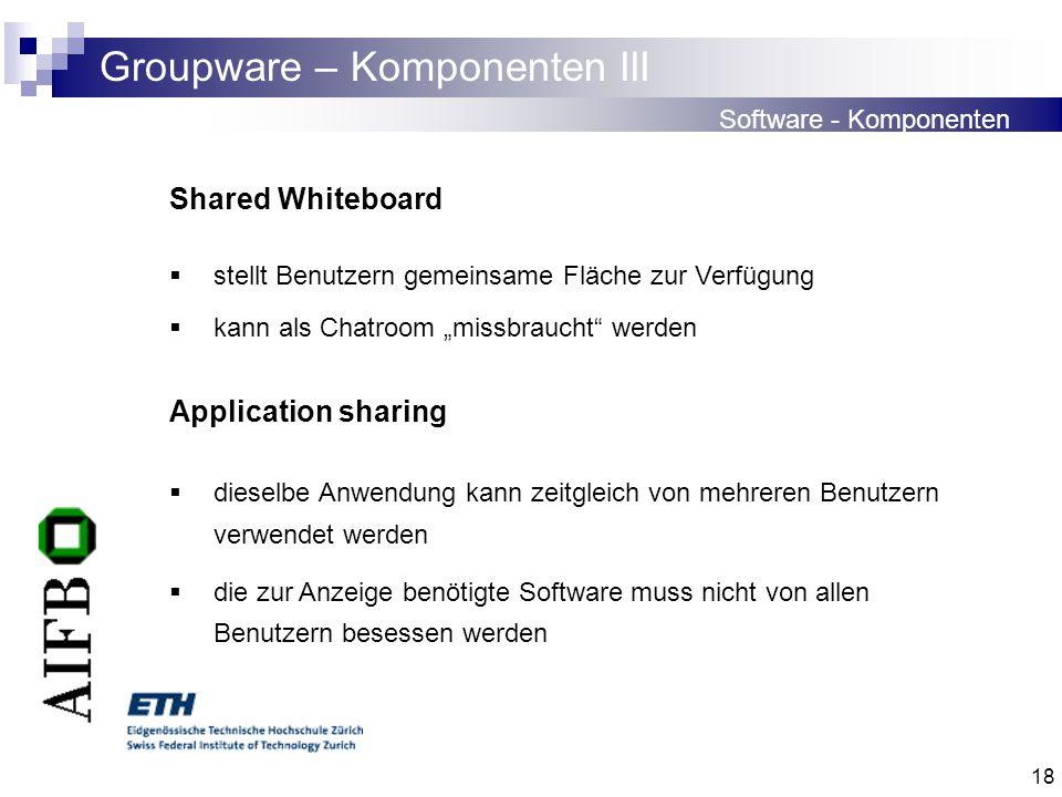 Groupware – Komponenten III