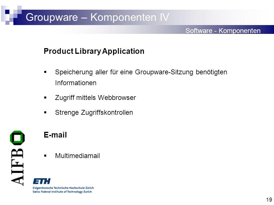 Groupware – Komponenten IV