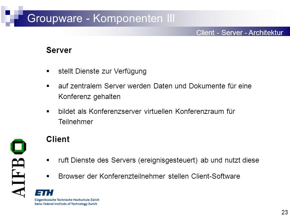 Groupware - Komponenten III