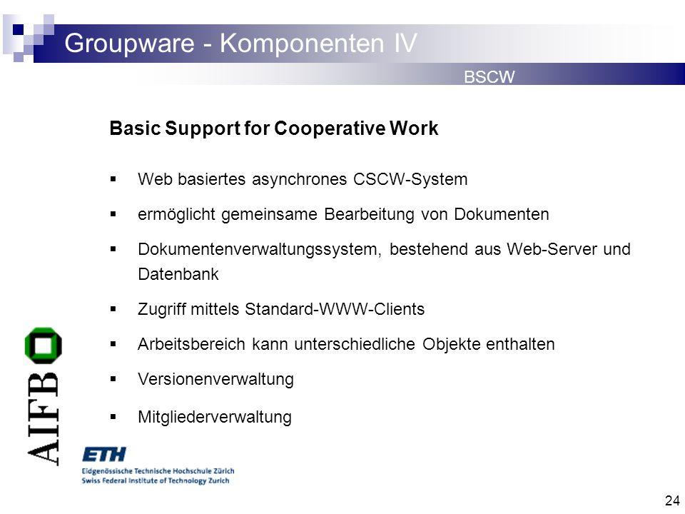 Groupware - Komponenten IV