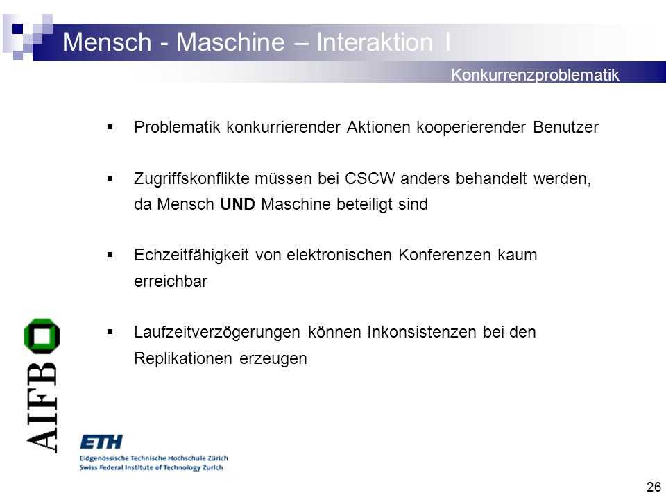 Mensch - Maschine – Interaktion I