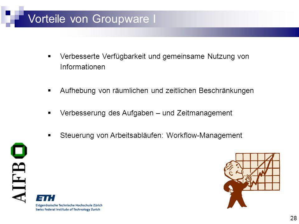 Vorteile von Groupware I