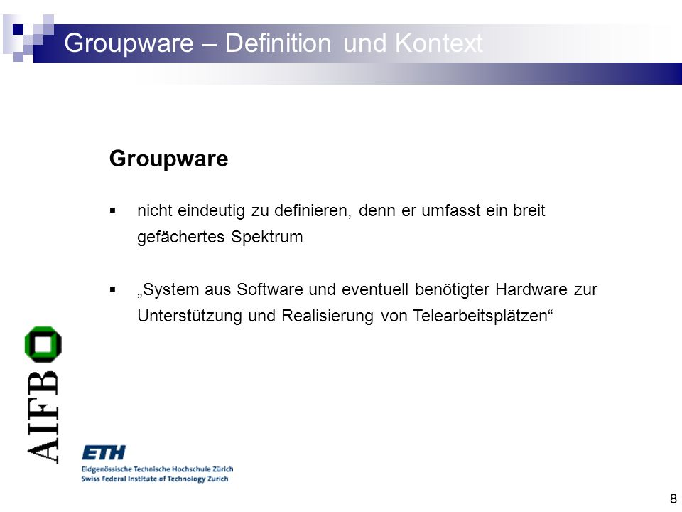 Groupware – Definition und Kontext