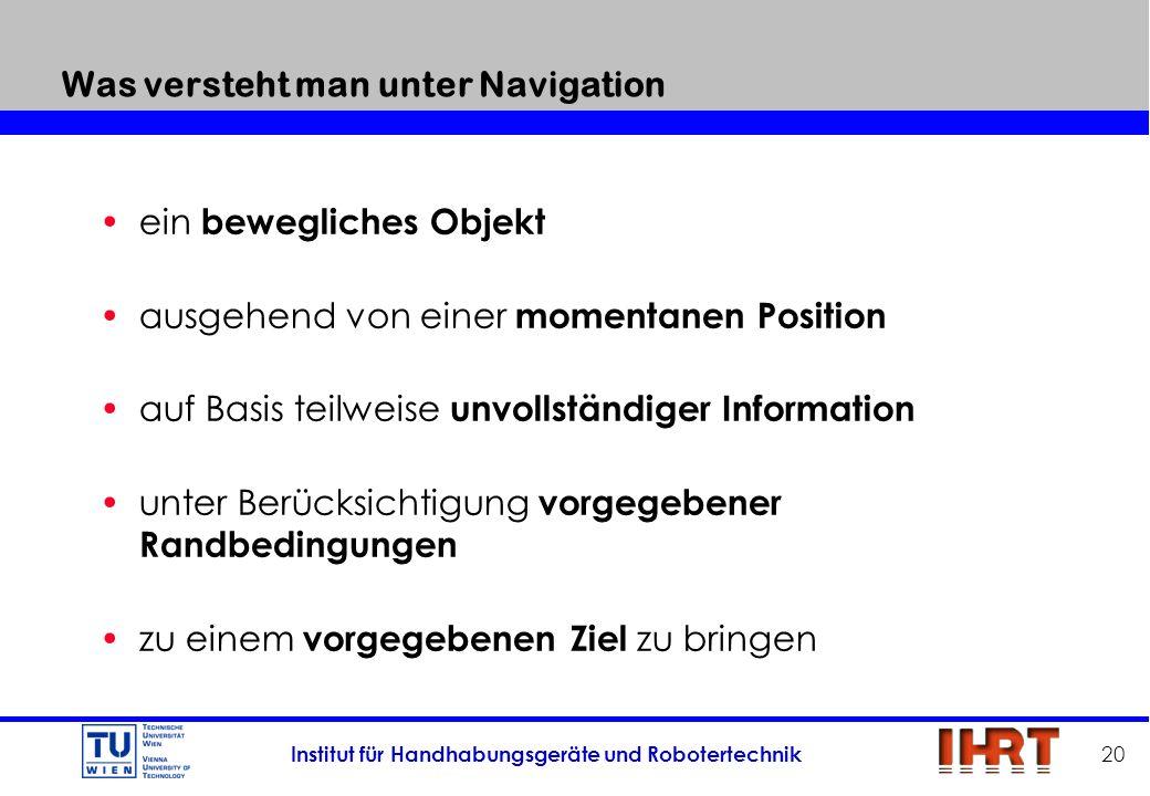 Was versteht man unter Navigation