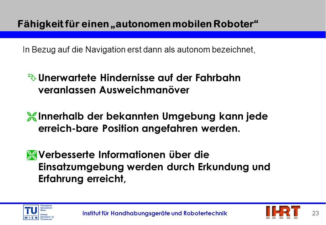 """Fähigkeit für einen """"autonomen mobilen Roboter"""