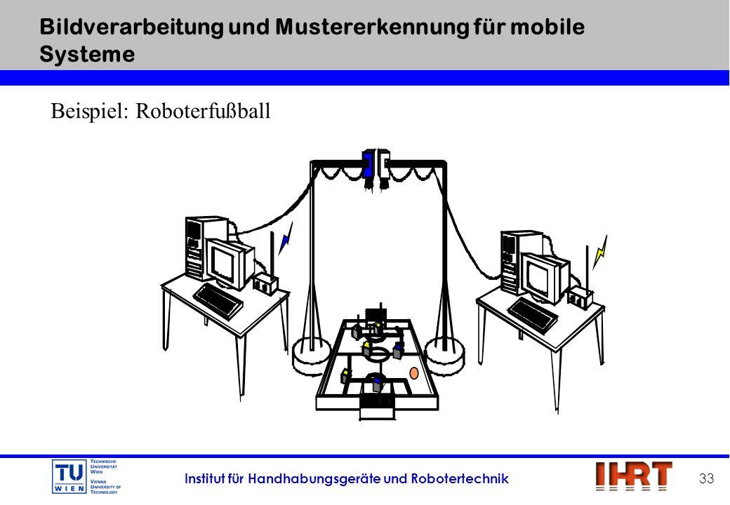 Bildverarbeitung und Mustererkennung für mobile Systeme