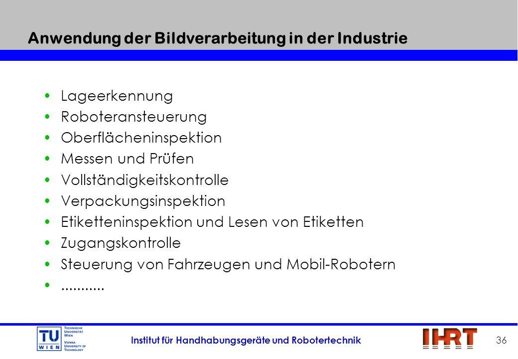 Anwendung der Bildverarbeitung in der Industrie