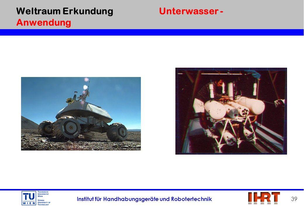 Weltraum Erkundung Unterwasser - Anwendung