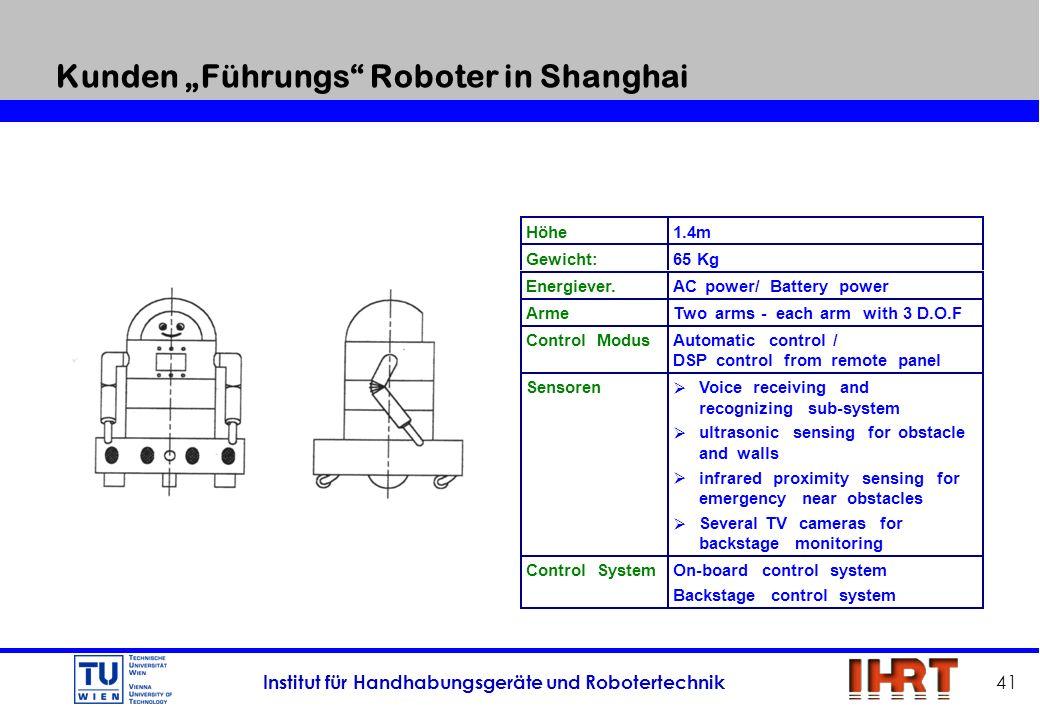 """Kunden """"Führungs Roboter in Shanghai"""