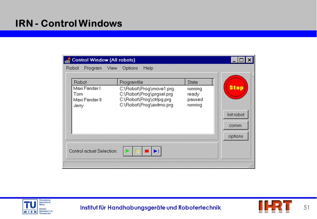 IRN - Control Windows