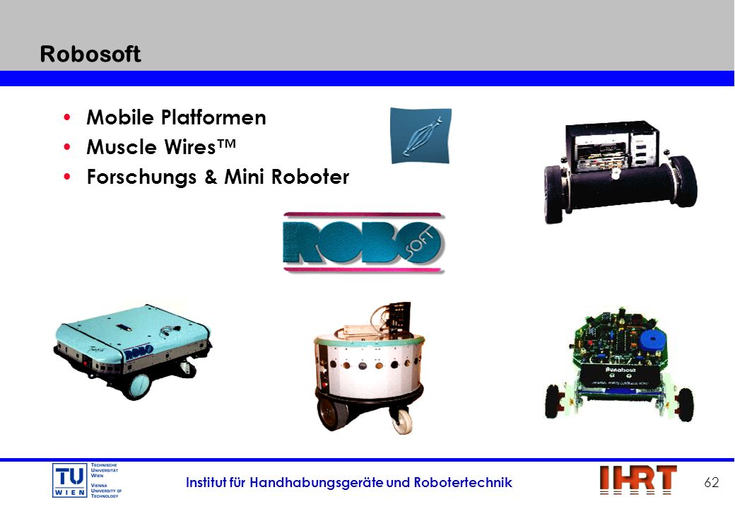 Robosoft Mobile Platformen Muscle Wires™ Forschungs & Mini Roboter