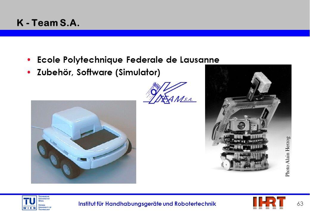 K - Team S.A. Ecole Polytechnique Federale de Lausanne