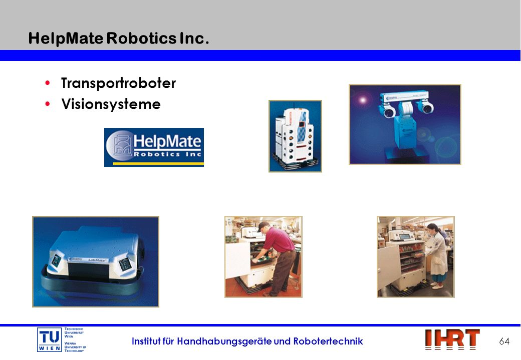 HelpMate Robotics Inc. Transportroboter Visionsysteme