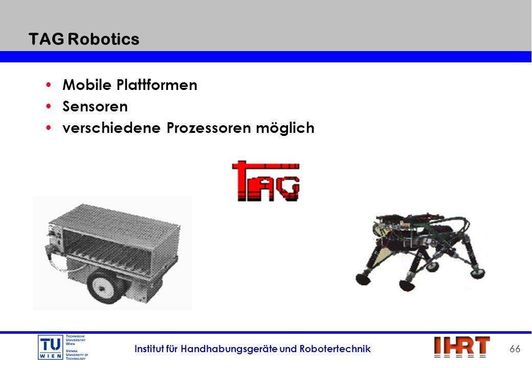 TAG Robotics Mobile Plattformen Sensoren