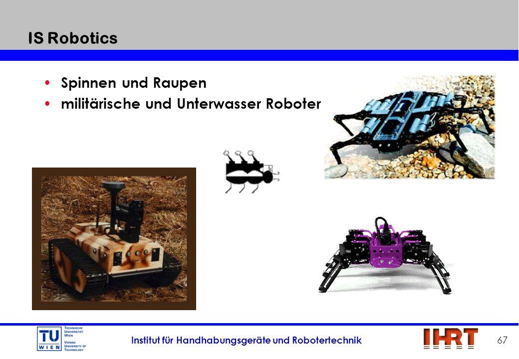 IS Robotics Spinnen und Raupen militärische und Unterwasser Roboter