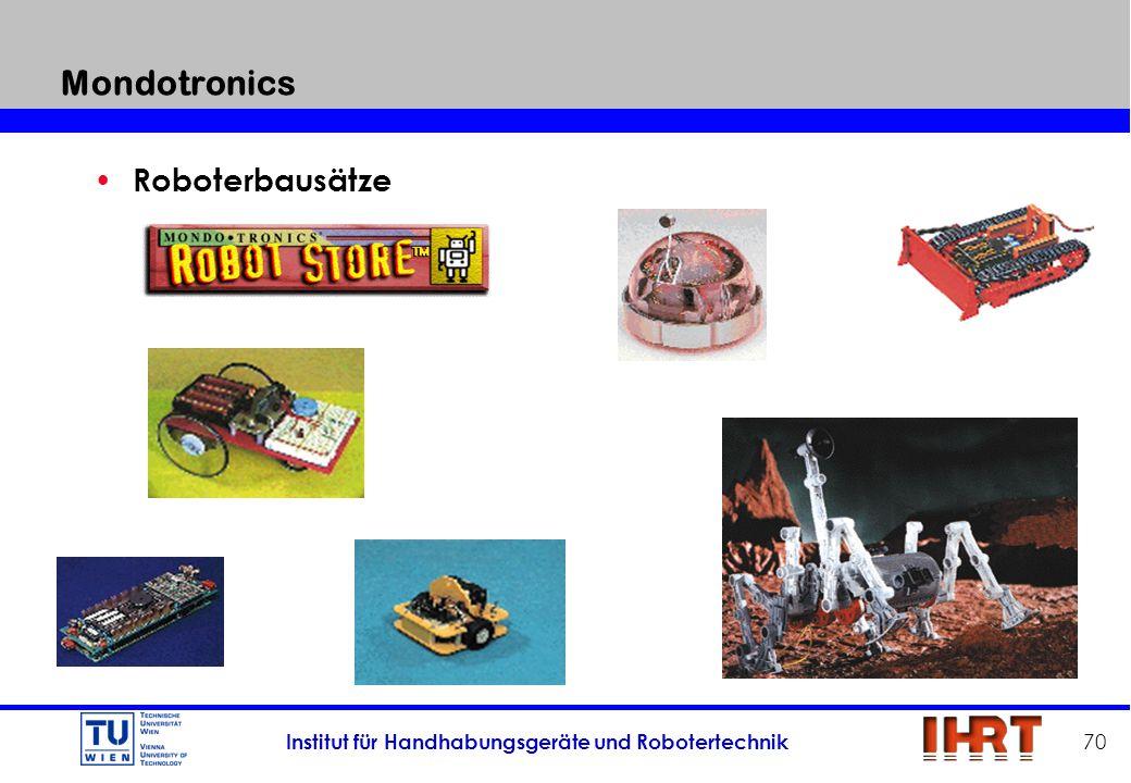 Mondotronics Roboterbausätze Mehr als 300 verschiedene kits