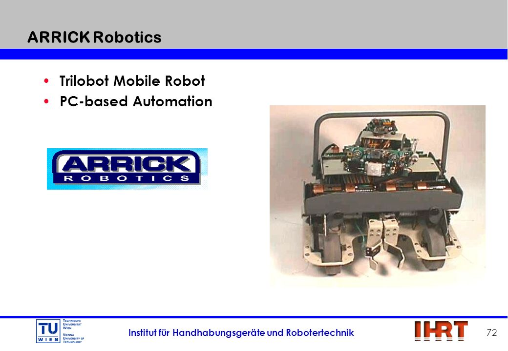 ARRICK Robotics Trilobot Mobile Robot PC-based Automation