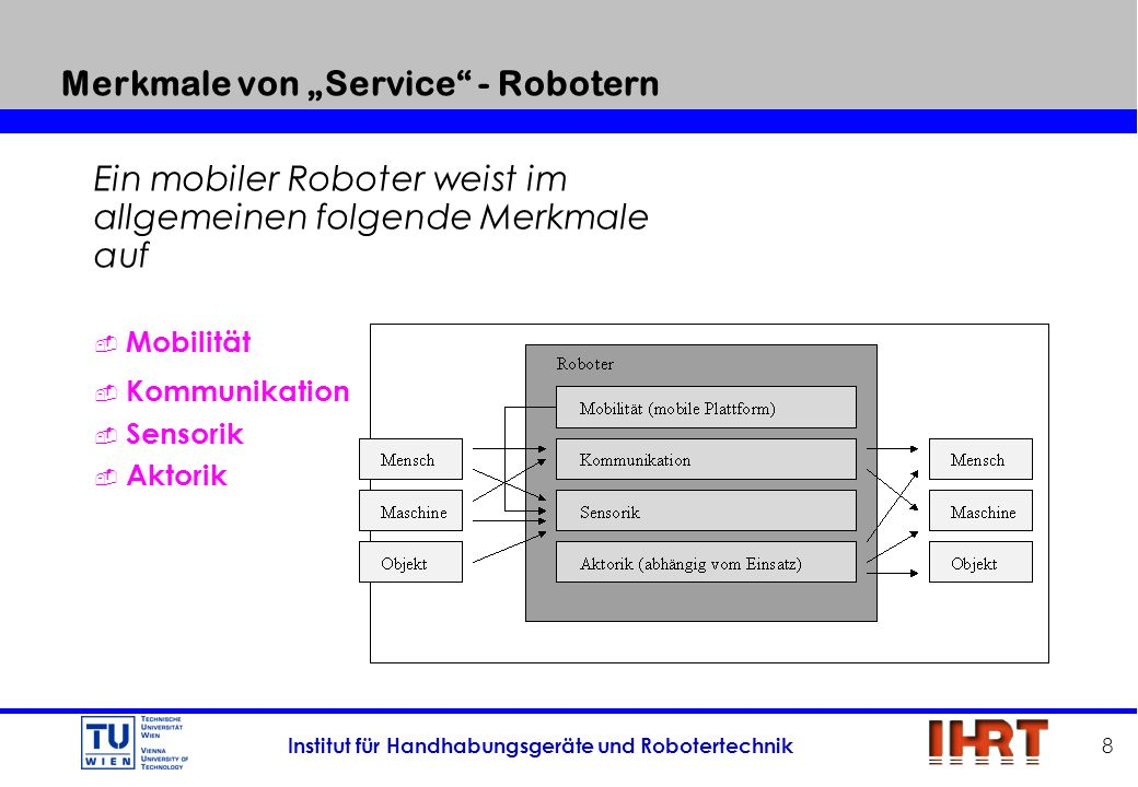 """Merkmale von """"Service - Robotern"""