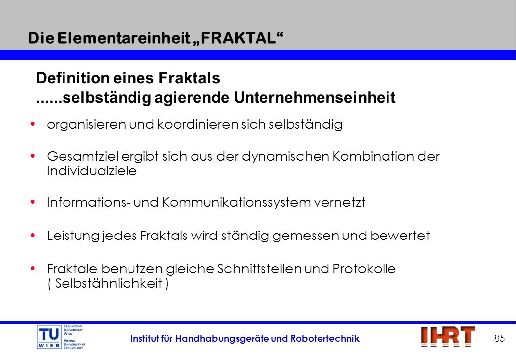 """Die Elementareinheit """"FRAKTAL"""