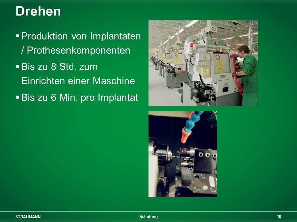 Drehen Produktion von Implantaten / Prothesenkomponenten