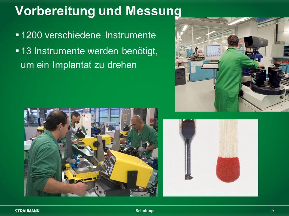 Vorbereitung und Messung