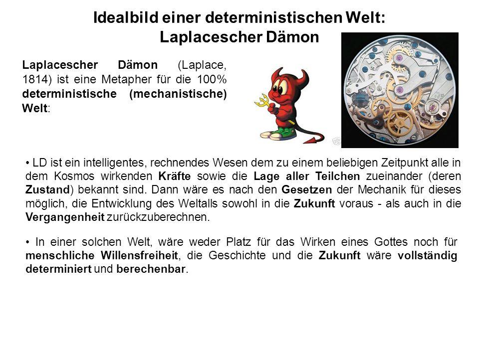 Idealbild einer deterministischen Welt: Laplacescher Dämon