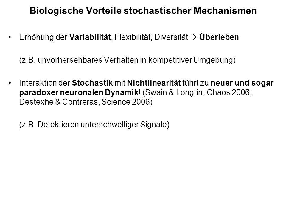 Biologische Vorteile stochastischer Mechanismen