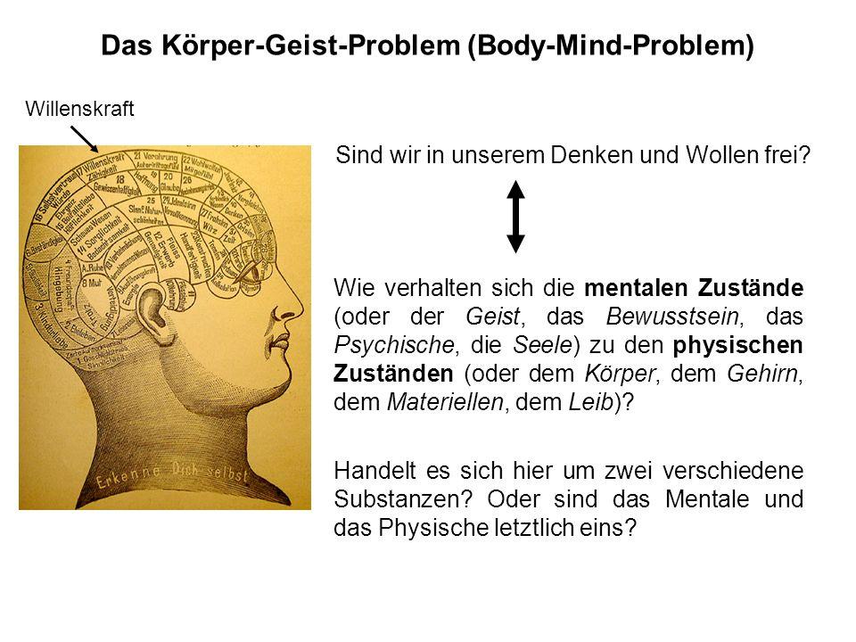 Das Körper-Geist-Problem (Body-Mind-Problem)