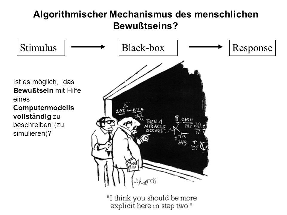 Algorithmischer Mechanismus des menschlichen Bewußtseins