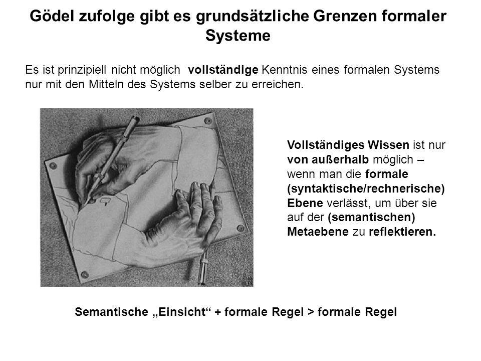 Gödel zufolge gibt es grundsätzliche Grenzen formaler Systeme