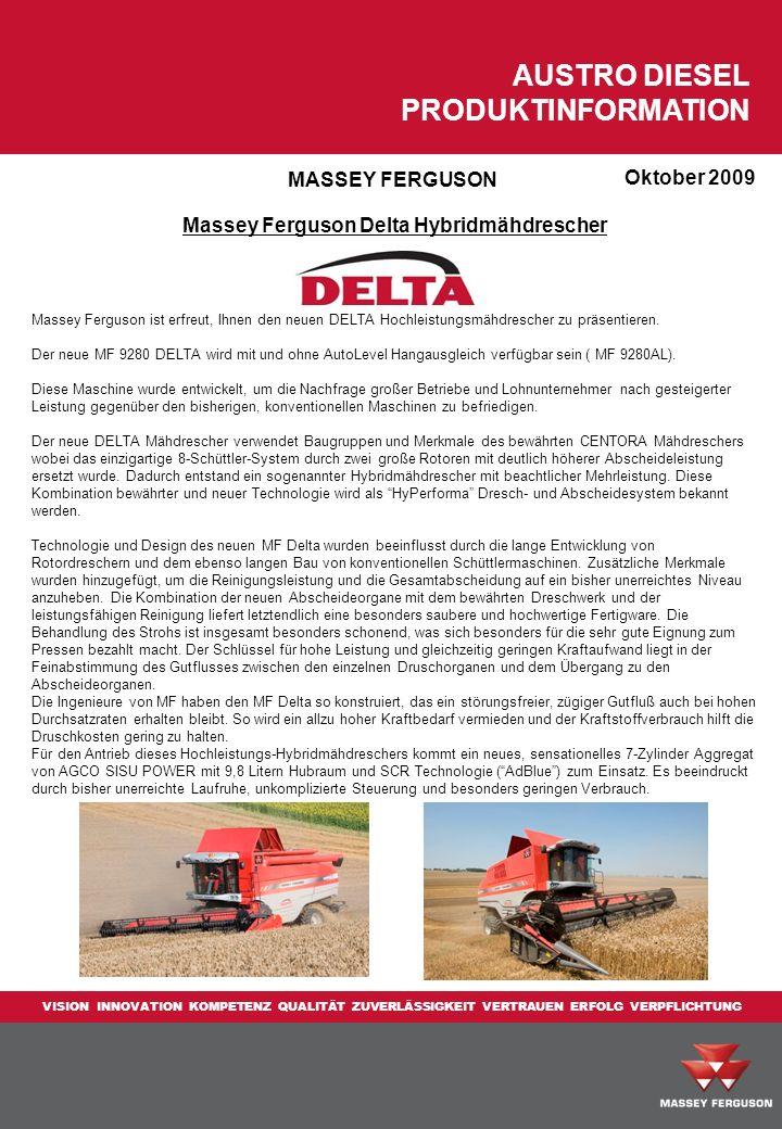 Massey Ferguson Delta Hybridmähdrescher