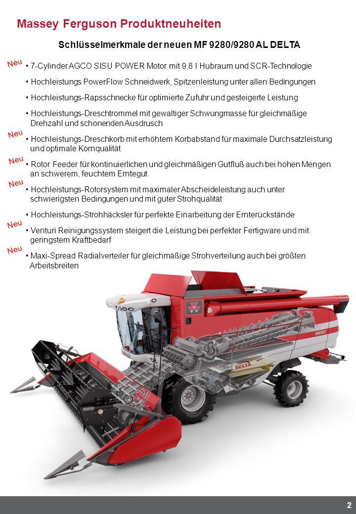 Schlüsselmerkmale der neuen MF 9280/9280 AL DELTA