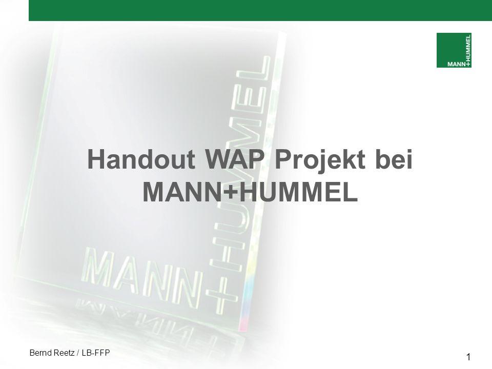 Handout WAP Projekt bei MANN+HUMMEL