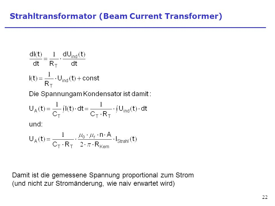 Strahltransformator (Beam Current Transformer)