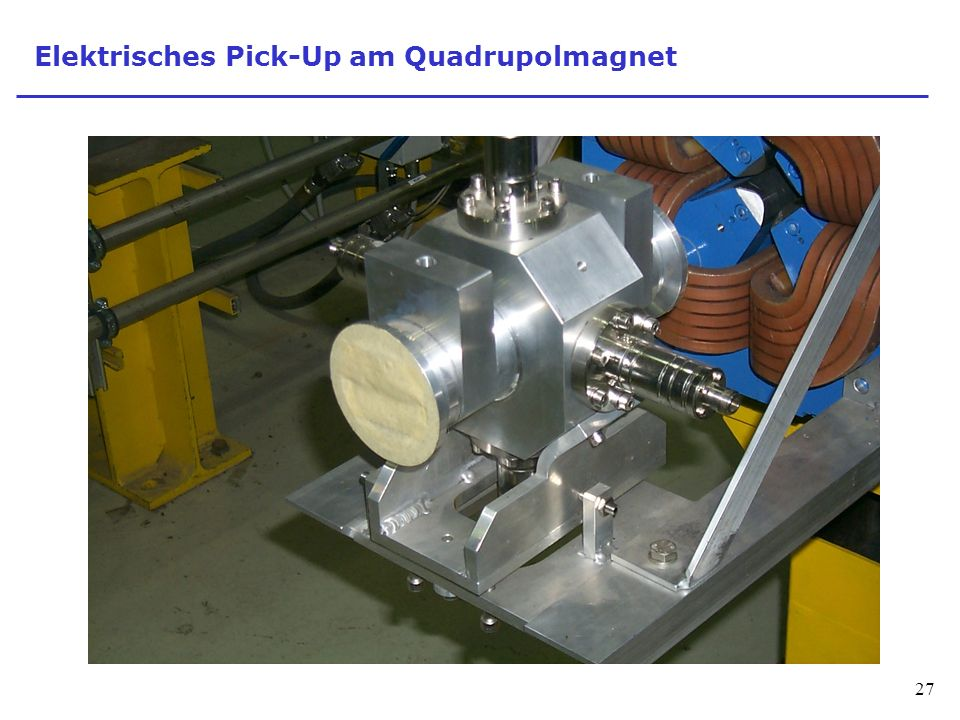 Elektrisches Pick-Up am Quadrupolmagnet