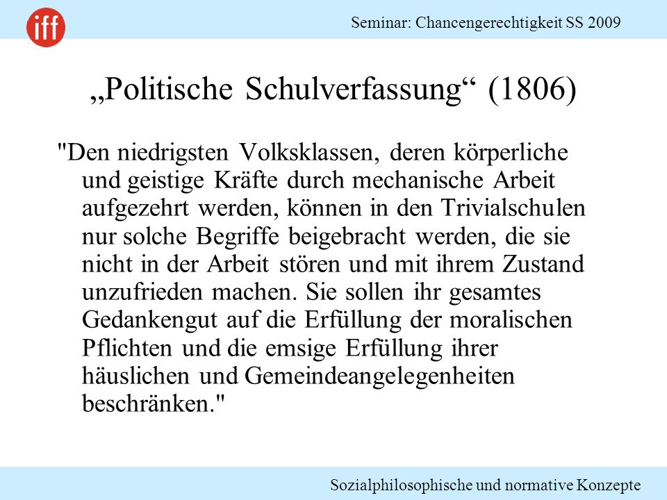 """""""Politische Schulverfassung (1806)"""