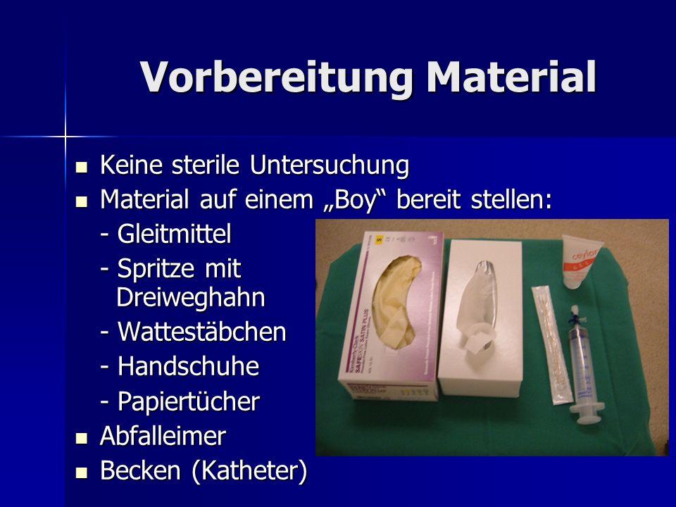 Vorbereitung Material