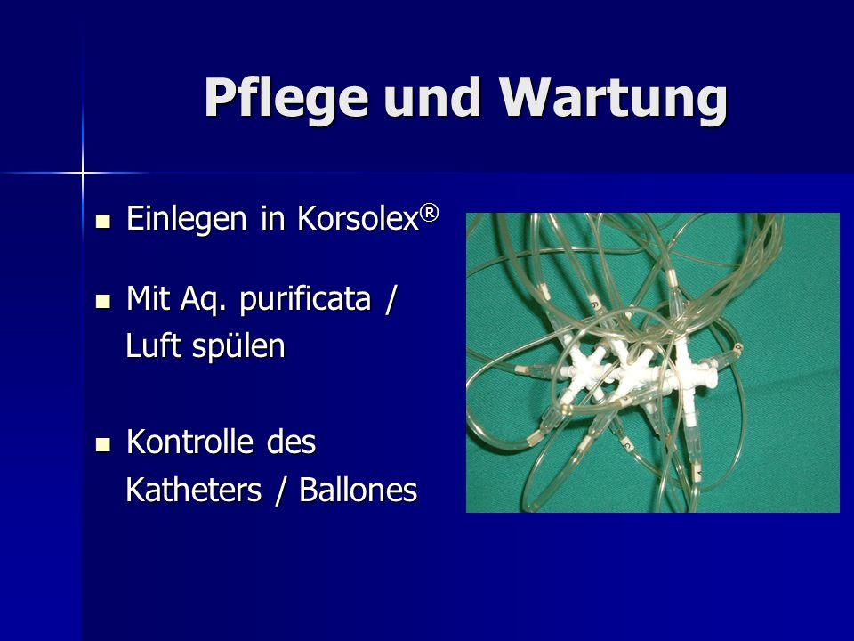 Pflege und Wartung Einlegen in Korsolex® Mit Aq. purificata /