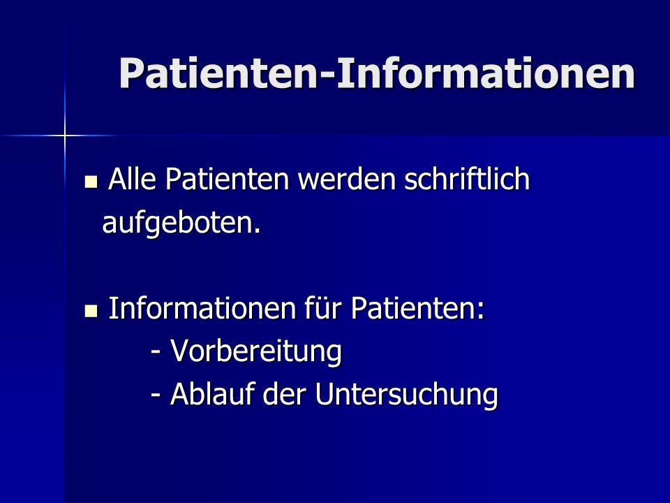 Patienten-Informationen