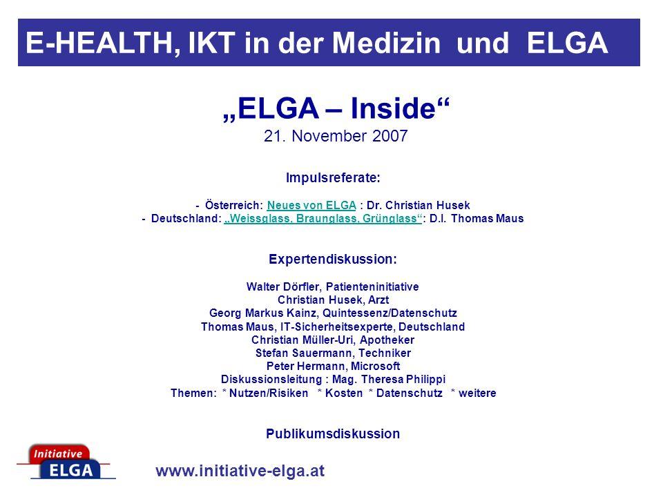 """ELGA – Inside 21. November 2007"
