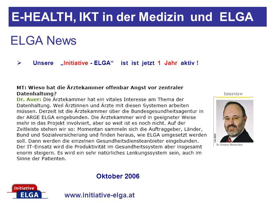 """Unsere """"Initiative - ELGA ist ist jetzt 1 Jahr aktiv !"""