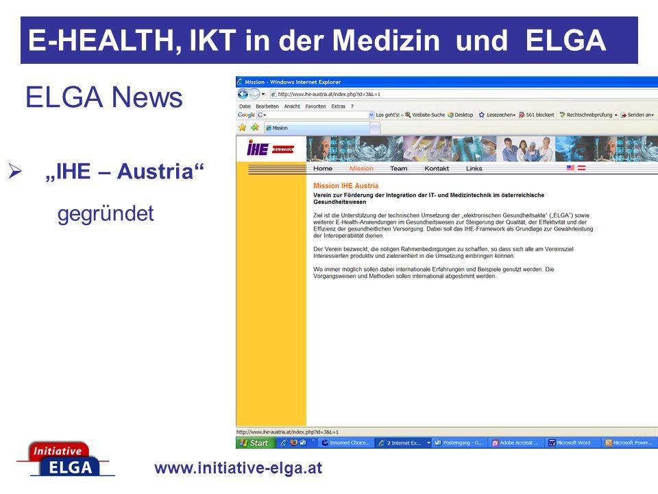 """IHE – Austria gegründet"