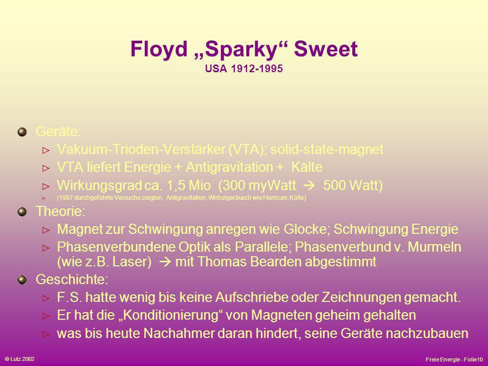 """Floyd """"Sparky Sweet USA 1912-1995"""