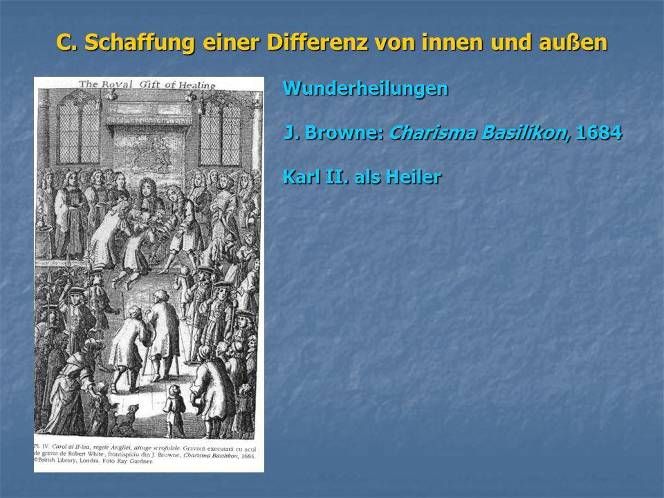 C. Schaffung einer Differenz von innen und außen