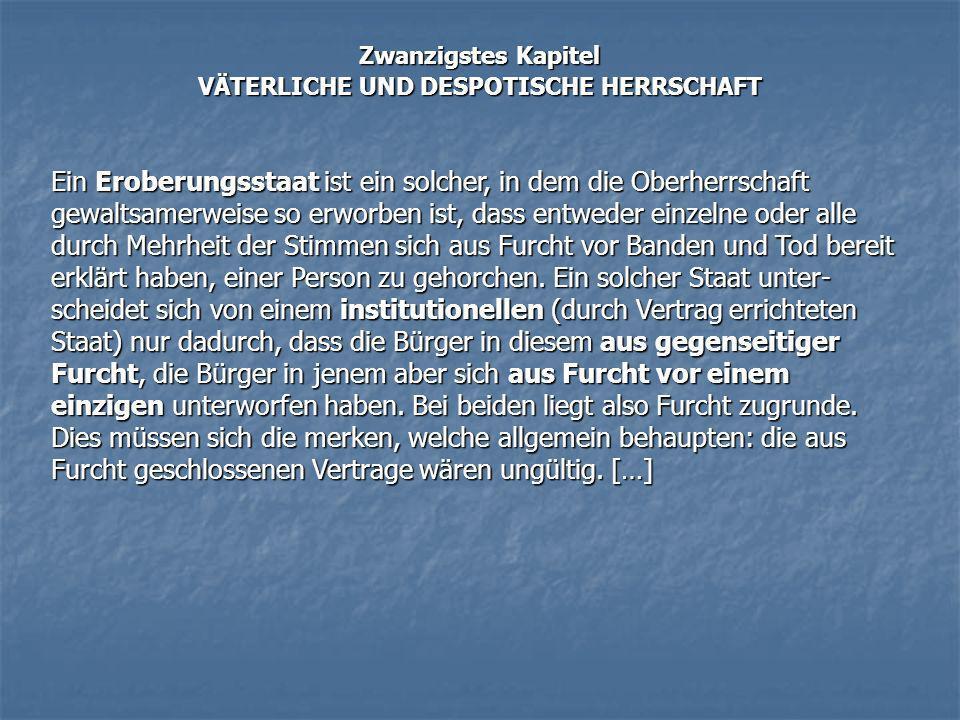VÄTERLICHE UND DESPOTISCHE HERRSCHAFT