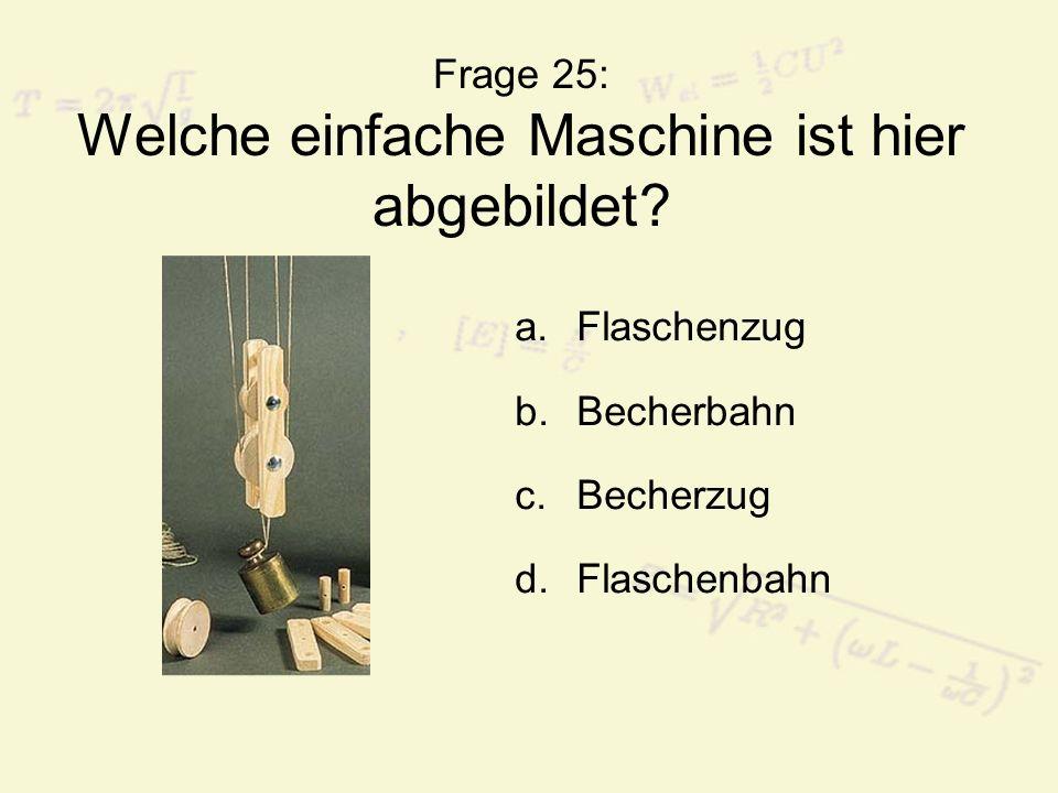 Frage 25: Welche einfache Maschine ist hier abgebildet