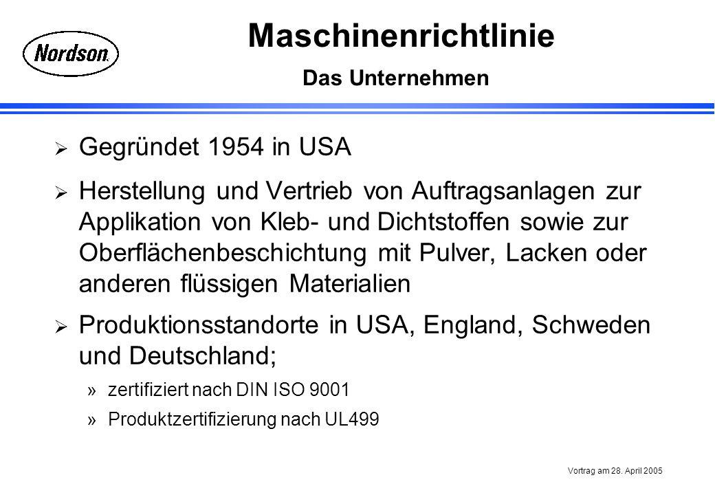 Produktionsstandorte in USA, England, Schweden und Deutschland;