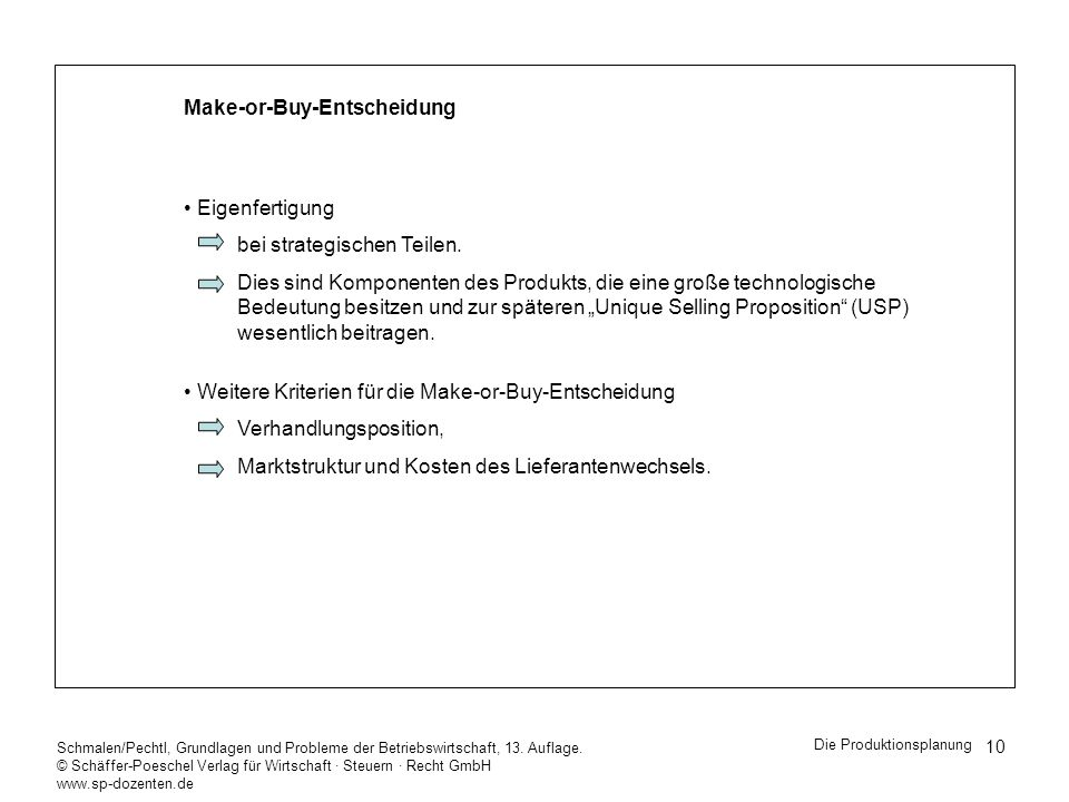 Make-or-Buy-Entscheidung