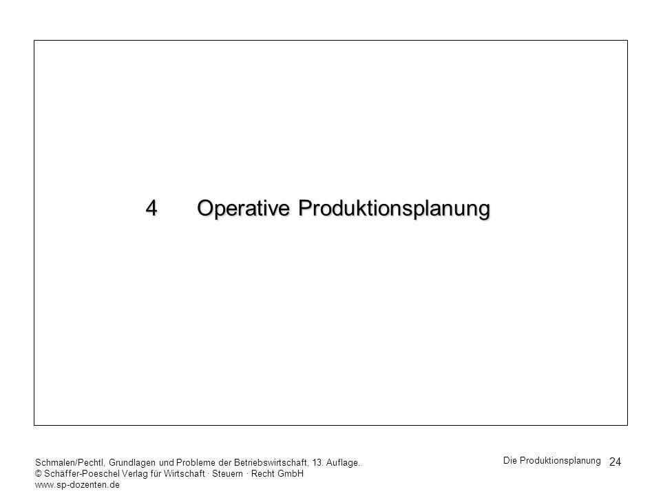 4 Operative Produktionsplanung
