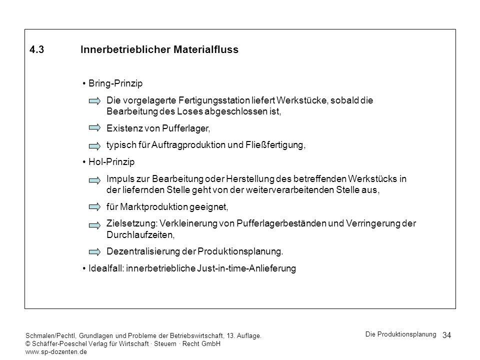 4.3 Innerbetrieblicher Materialfluss